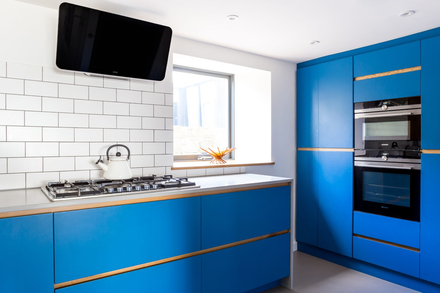 Electric Blue Kitchen in Bradford on Avon