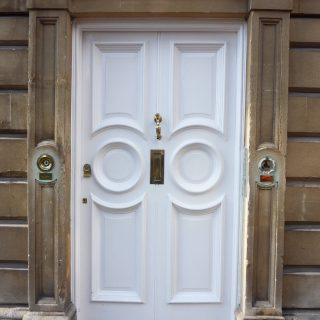 Period style solid timber front door