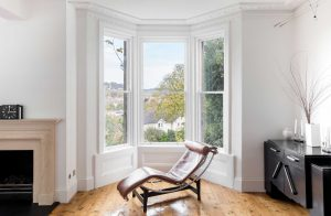 Restored sash windows in Bath townhouse