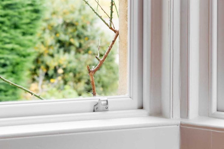 Victorian sash window