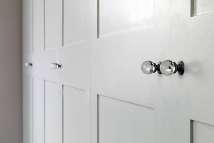 Wardrobe glass door knob handles