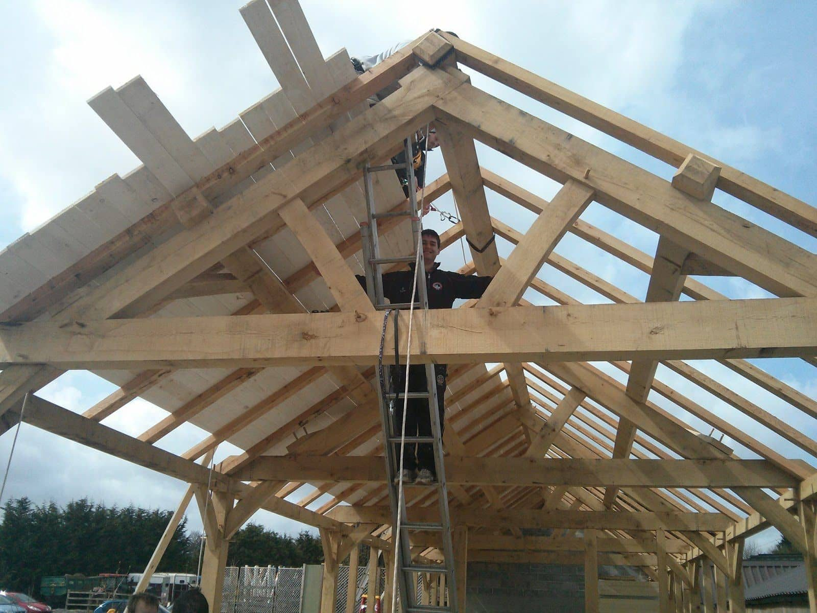 Crafting an oak framed building