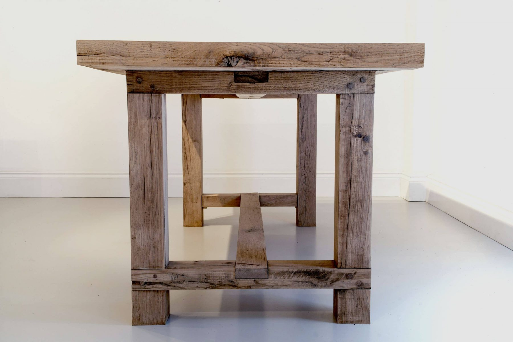 Rustic wooden table