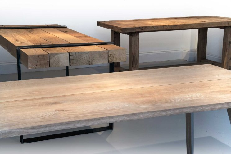 Collection of wooden tables