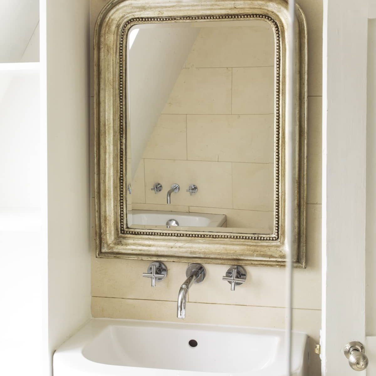 Antique mirror in gold finish