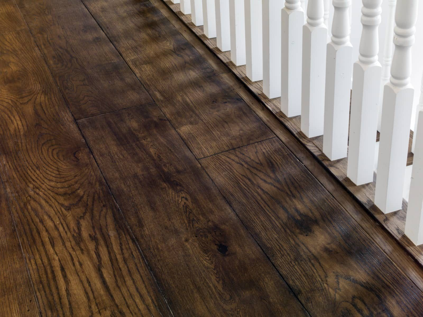 Oak plank timber flooring