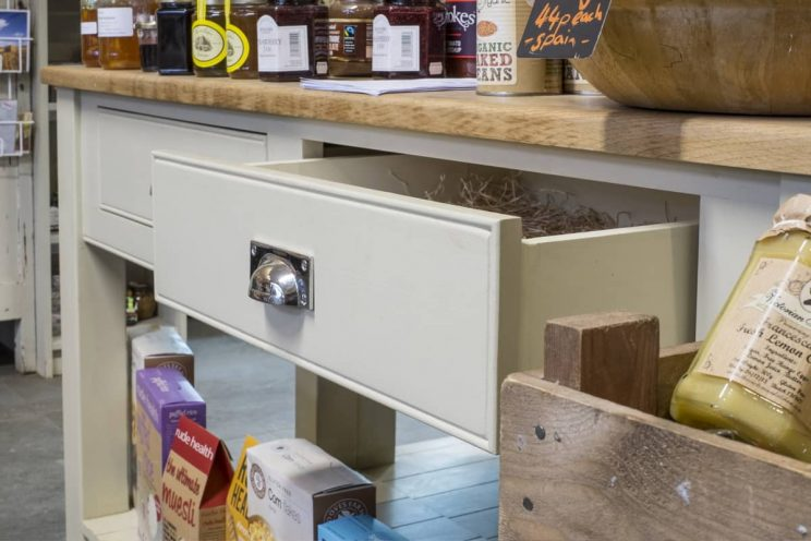 Drawer detail at Hartley Farm Shop, Winsley