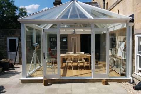 Sapele hardwood conservatory in Bradford on Avon