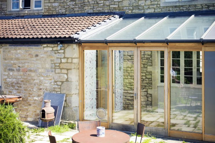 Country home extension crafted from oak