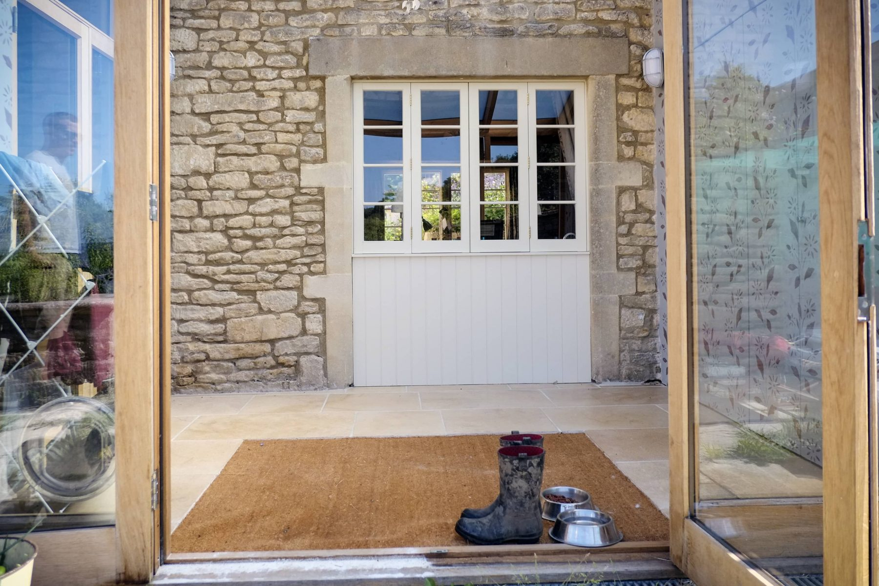 White external wooden door