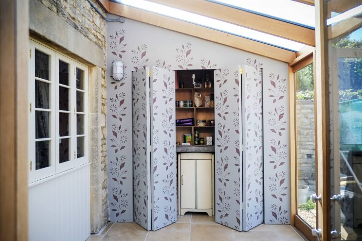 Storage area in the conservatory