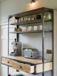Bespoke industrial style kitchen shelving unit bath bespoke for Industrial style kitchen uk