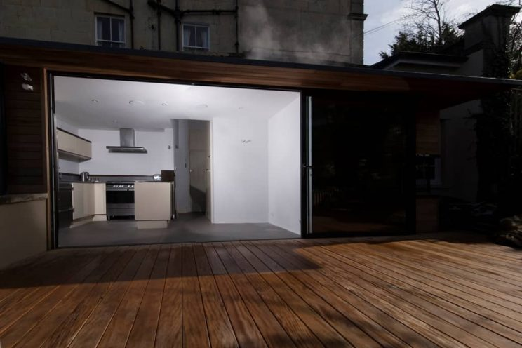 Contemporary kitchen and patio
