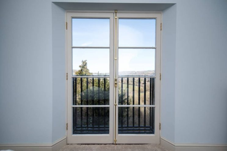 French doors with espagnolette lock
