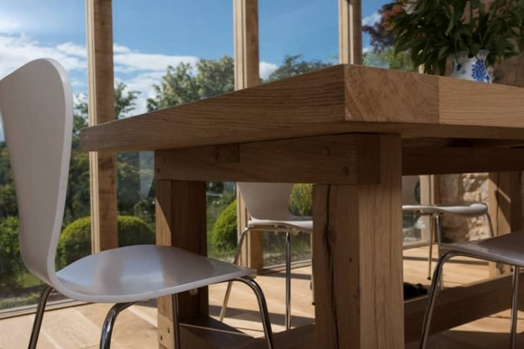 Oak table for a house in Turleigh