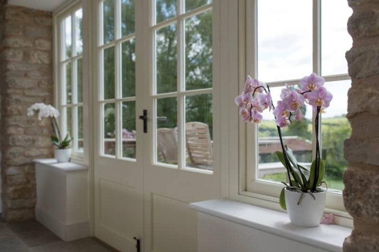 Elegant french doors and windows