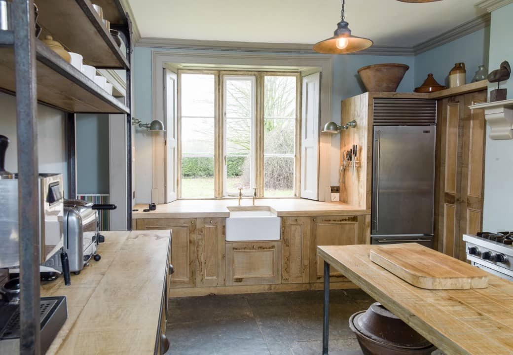 Rustic sustainable kitchen cabinets