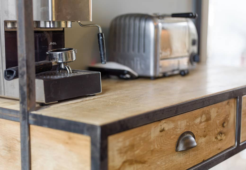 Bespoke fitted kitchens industrial style vintage kitchen for Vintage industrial style kitchen