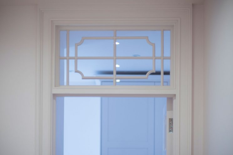 Elegant detailing in the window frame