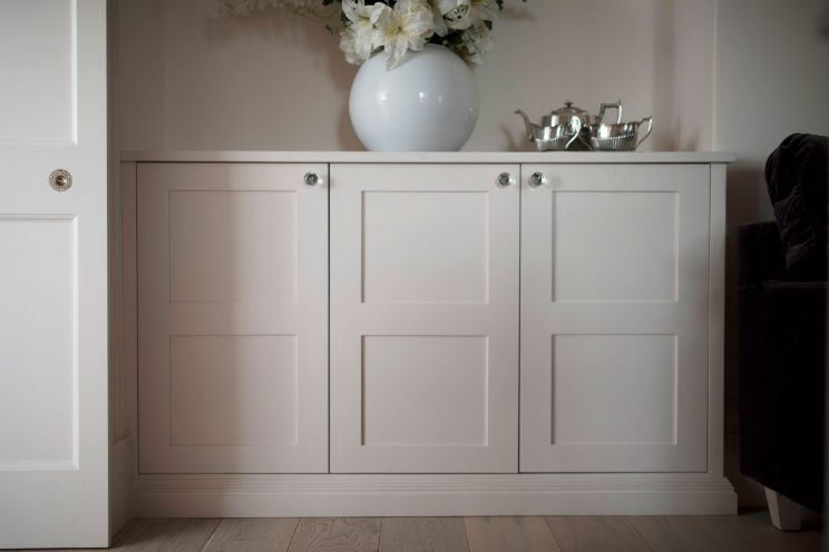 Light pink bespoke cabinets