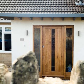 External wooden door