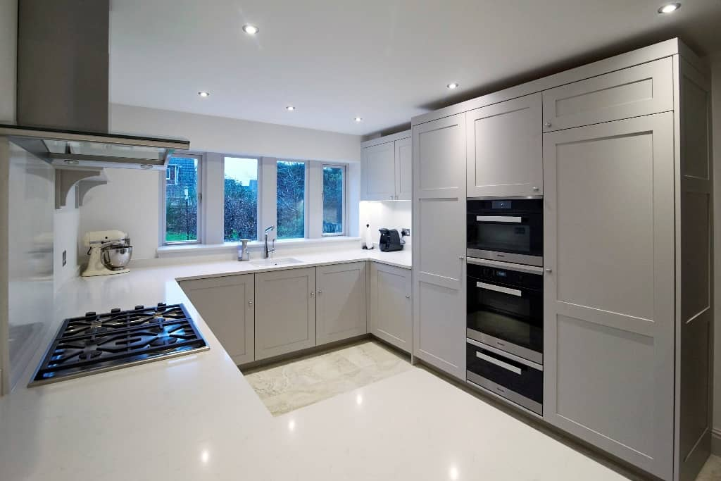 modern white shaker kitchen handmade kitchens 319