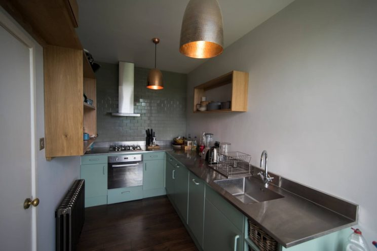L-shaped kitchen in apartment in Bath