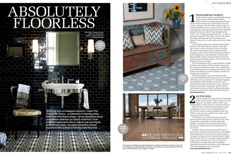 Wooden flooring feature in Bath Life