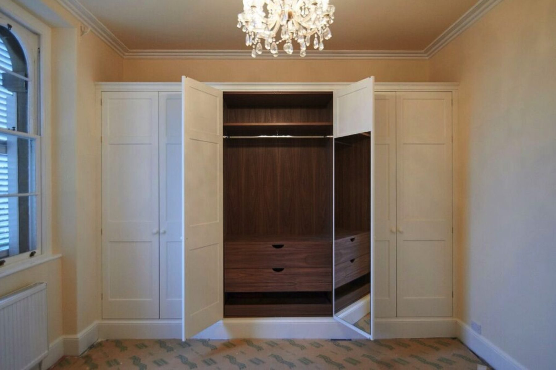 Traditional fitted painted wardrobe