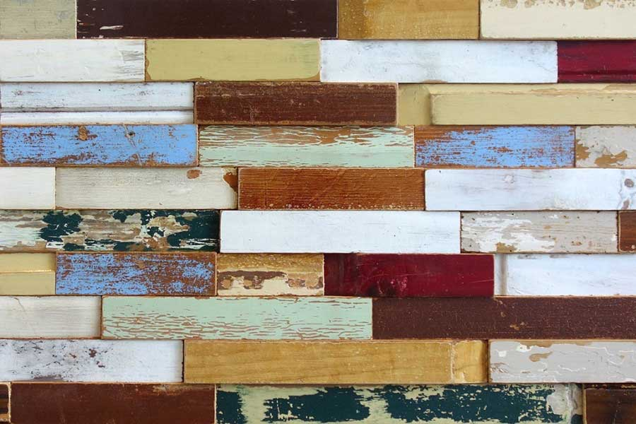 Wooden wall cladding - Panneau 'reclaimed' joinery