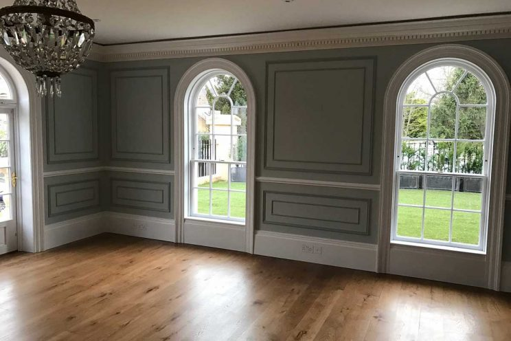 Wall panelling in Cleveland House