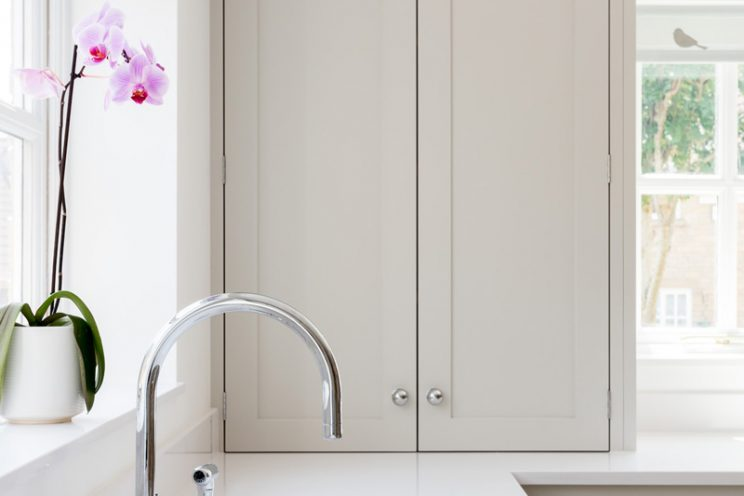 This shaker cupboard was ideal for de-cluttering the worktops
