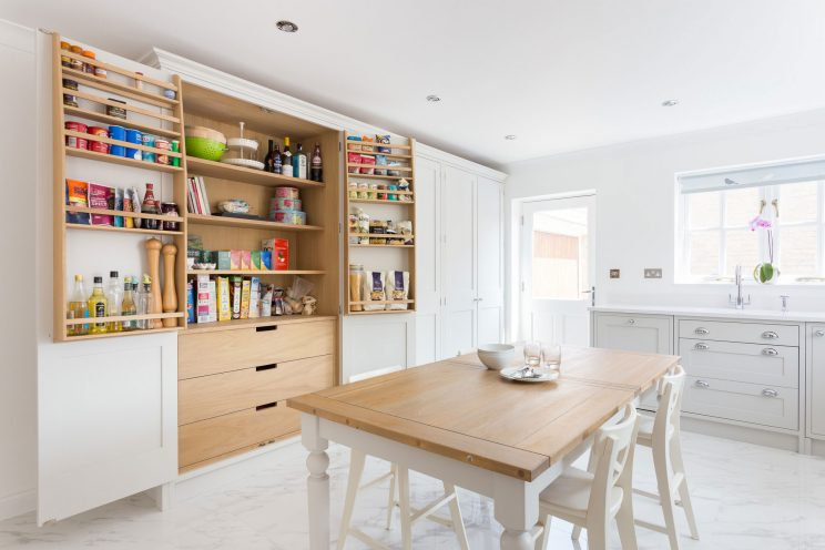 The large larder provided ample storage space