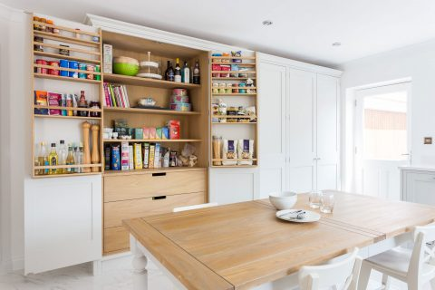 Shaker kitchen with large larder