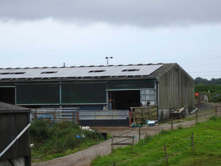 Solar panels on Hartley Farm