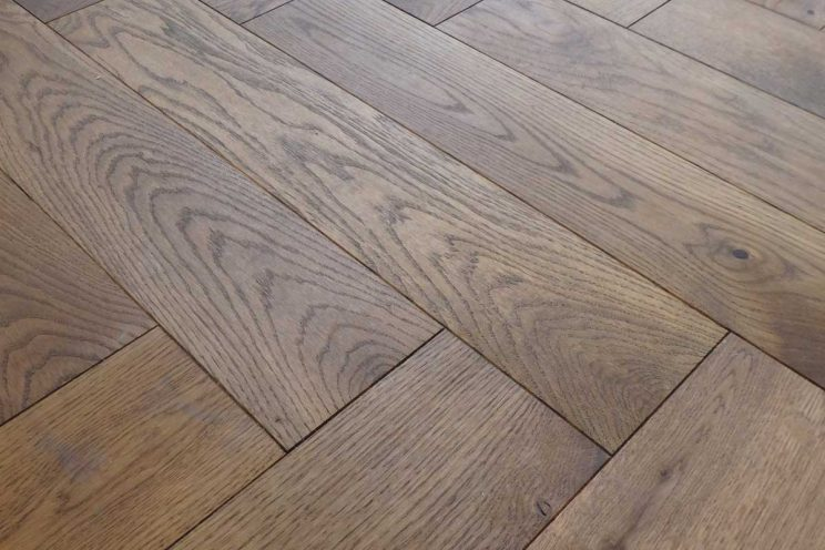 A close up of the parquet pattern