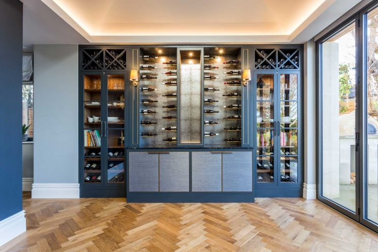 Custom-made wine wall