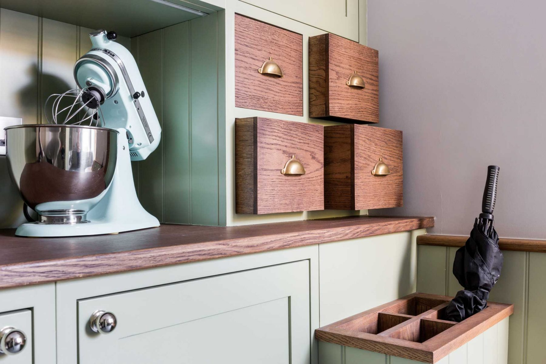 Utility room with solid oak drawers