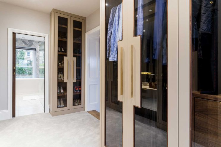 Walk-in dressing room finished in London Stone