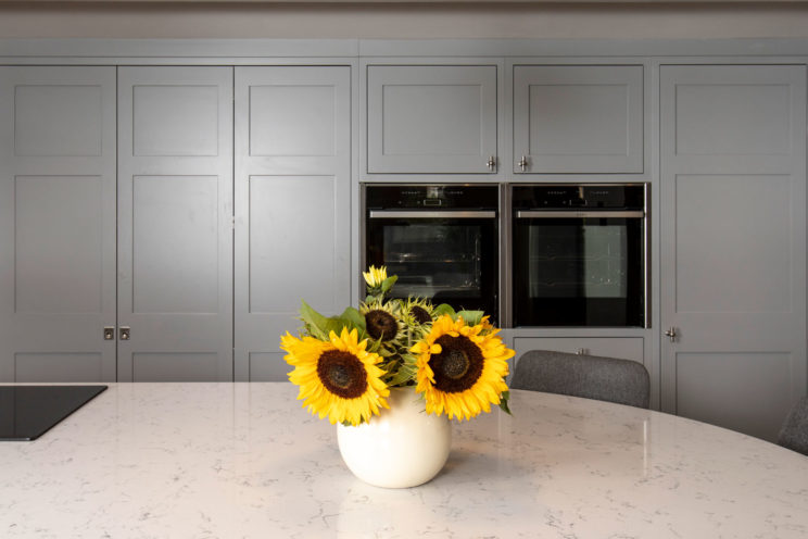 Grey shaker kitchen with integrated NEFF oven