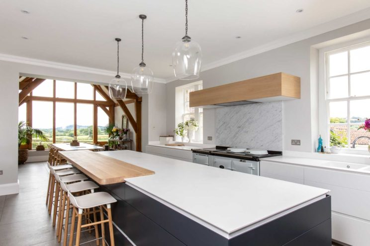 Kitchen island with Corian worktop