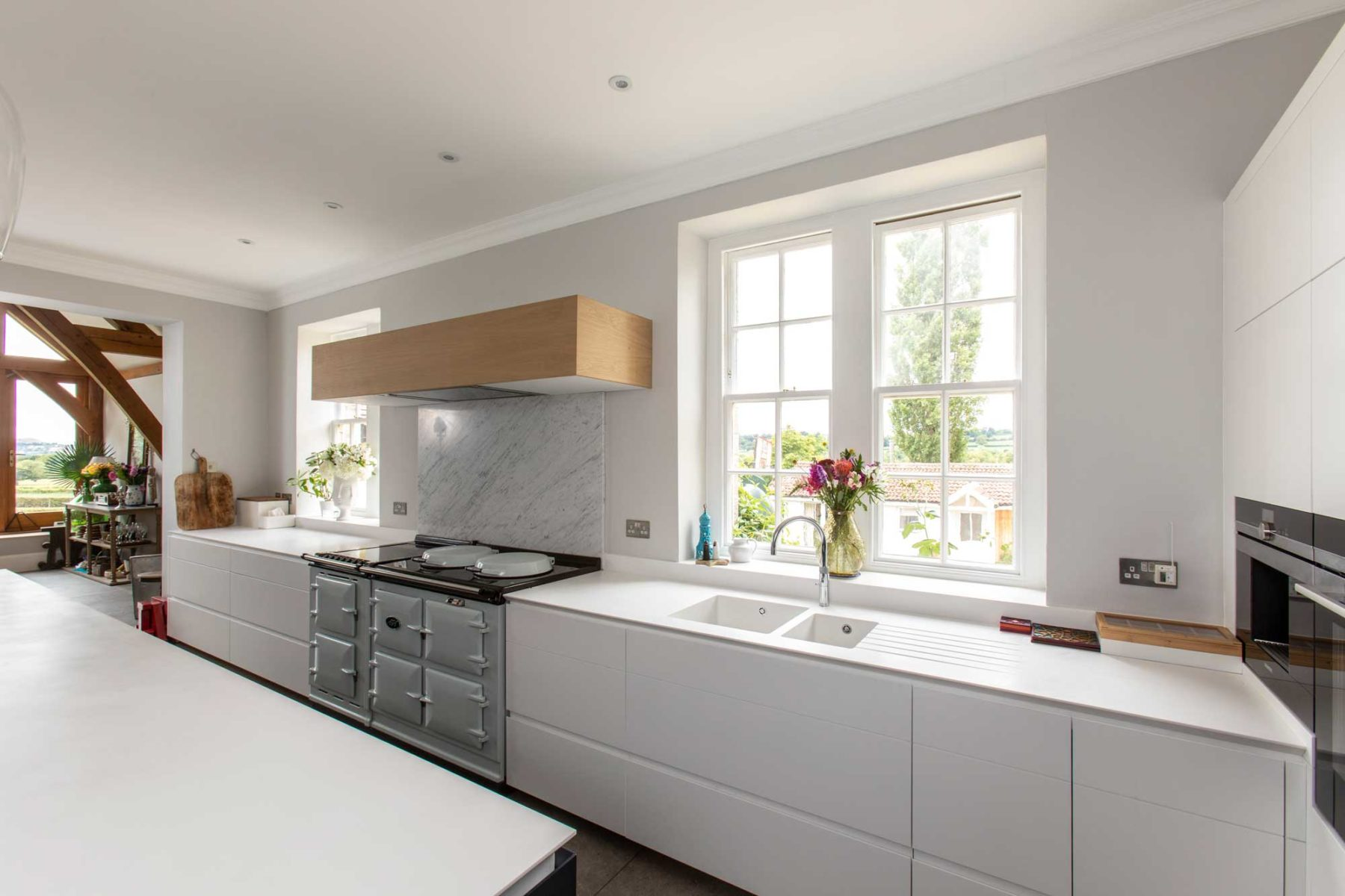 Modern kitchen with AGA