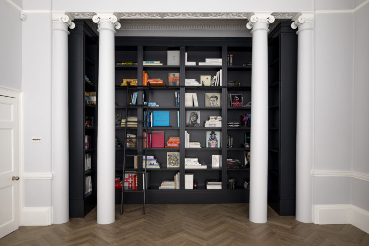 Library bookcase in Georgian house