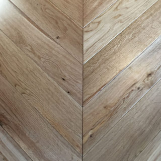 Chevron flooring Brushed Oak