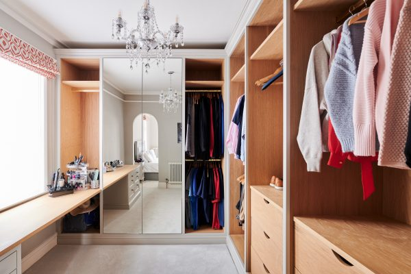 Bespoke dressing room with open storage