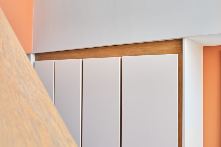 Contemporary hallway storage cabinetry (designed, manufactured & installed)