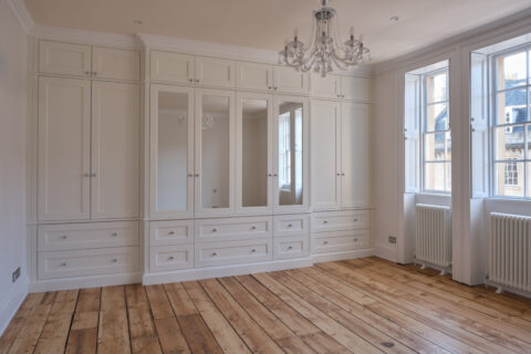 Bespoke, built-in, traditional style wardrobes