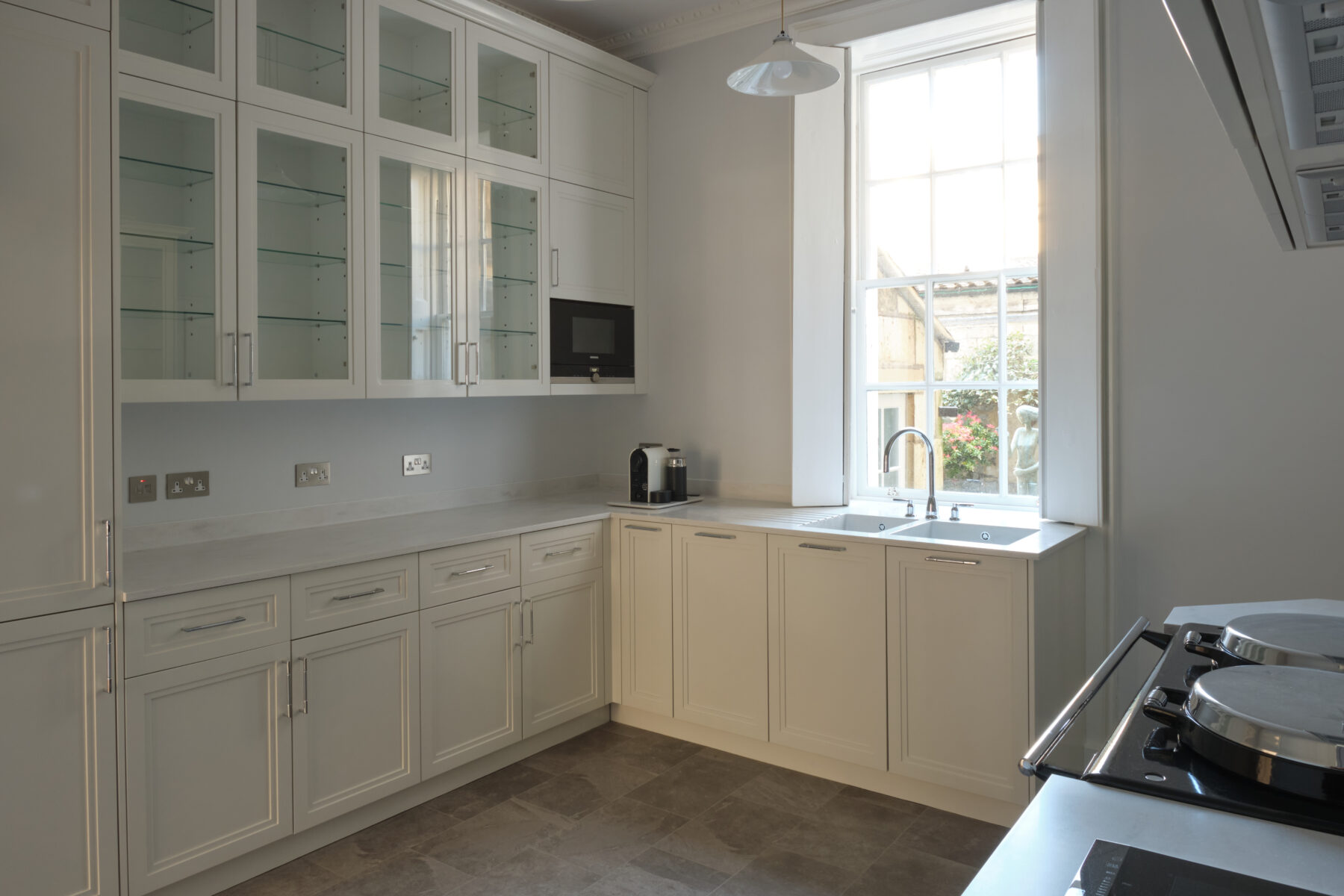 Bespoke kitchen cabinetry with overlay doors