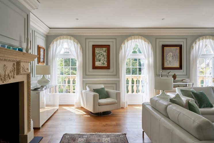 Bespoke mouldings used to create wall panelling